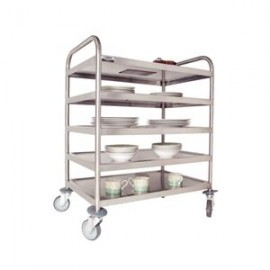 Craven DM341 5 Tier Stainless Steel Clearing Trolley With Brakes