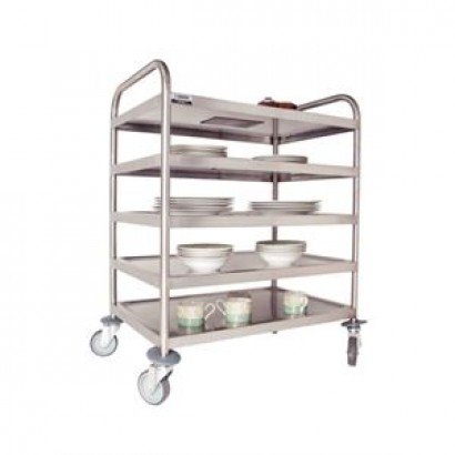 Craven DM340 5 Tier Stainless Steel Clearing Trolley