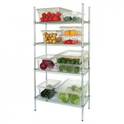 Vogue 4 Tier Wire Shelving Kit W915 x D460mm