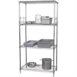 Vogue 4 Tier Wire Shelving Kit W1830 x D610mm