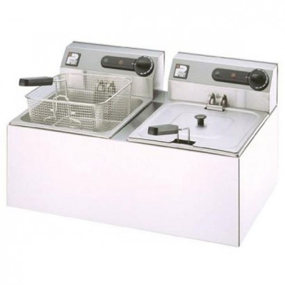 Parry 2001 Countertop Double Electric Fryer