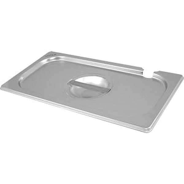 Vogue Stainless Steel 2/3 Gastronorm Pan Notched Lid