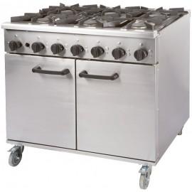 Burco Titan RG90 6 Burner Gas Range Cooker