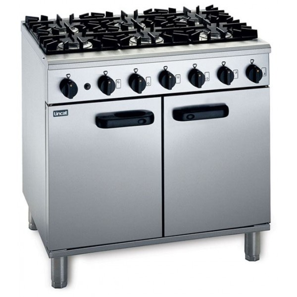 Lincat LMR9 6 Burner Gas Oven Range
