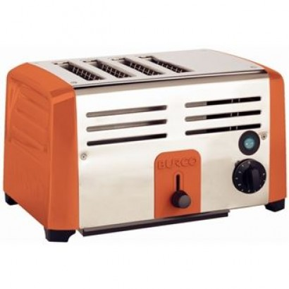 Burco DN655 Red Commercial 4 Slice Toaster
