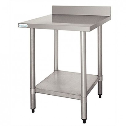 Vogue T379 Stainless Steel W600 x D600mm Table with Upstand