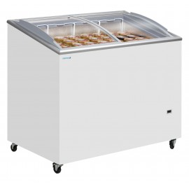Tefcold IC300SCEB 264 Litre Sliding Curved Glass Lid Chest Freezer