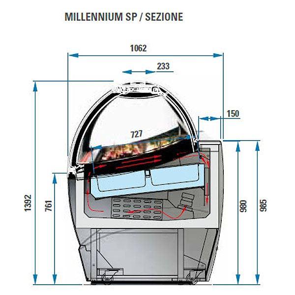 ISA Millennium SP12 12 Pan Ventilated Soft Scoop Ice Cream Display Freezer
