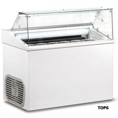 Mondial Elite TOP6 6 Pan Ice Cream Display Freezer