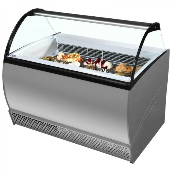 ISA Isabella 13LX 13 Pan Scoop Ice Cream Display Freezer