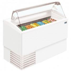 ISA Isetta 7ST 7 Pan Flat Glass Scoop Ice Cream Display Freezer