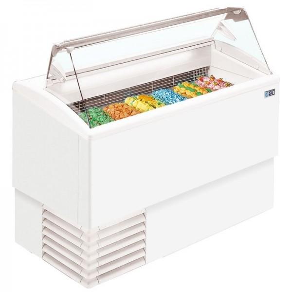 ISA Isetta 4ST 4 Pan Flat Glass Scoop Ice Cream Display Freezer