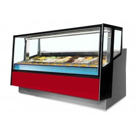ISA Kaleido 220 24 Pan Ventilated Scoop Ice Cream Display Freezer