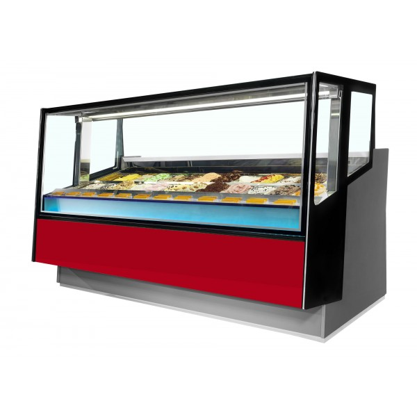 ISA Kaleido 120+50 12+6 Pan Ventilated Scoop Ice Cream Display Freezer