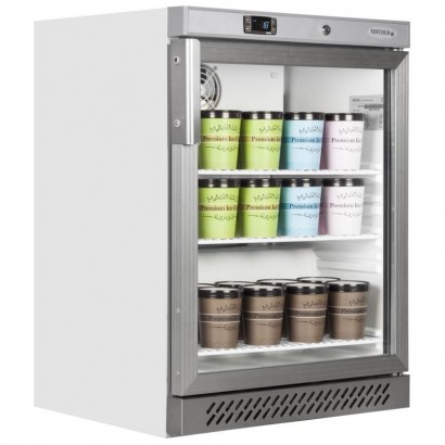 Tefcold UF200VG 120 Litre Glass Door Display Freezer
