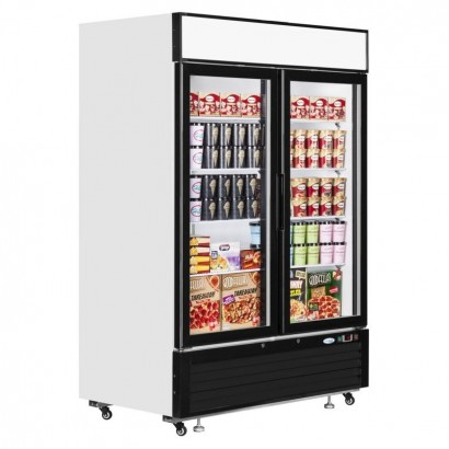 Interlevin LGF5000 1108 Litre Double Glass Door Display Freezer