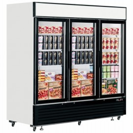 Interlevin LGF7500 2050 Litre Triple Glass Door Display Freezer