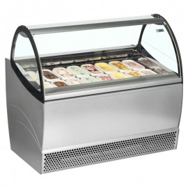 ISA Millennium SP12 12 Pan Ventilated Soft Scoop Ice Cream Display Freezer