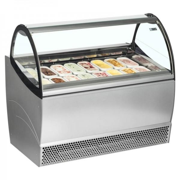 ISA Millennium SP16 16 Pan Ventilated Soft Scoop Ice Cream Display Freezer