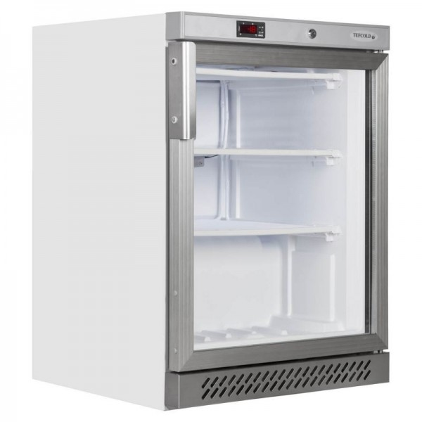 Tefcold UF200G 140 Litre Glass Door Display Freezer