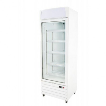 Prodis XD1NW White Heavy Duty Glass Door Display Freezer