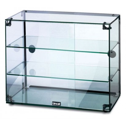Lincat GC36D 3 Tier 0.6m Glass Display Case with Rear Sliding Doors