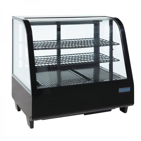 Polar 71 Can Counter Top Refrigerated Merchandiser in Black