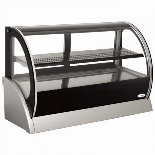 Interlevin S530A 0.9m Curved Glass Counter Top Display