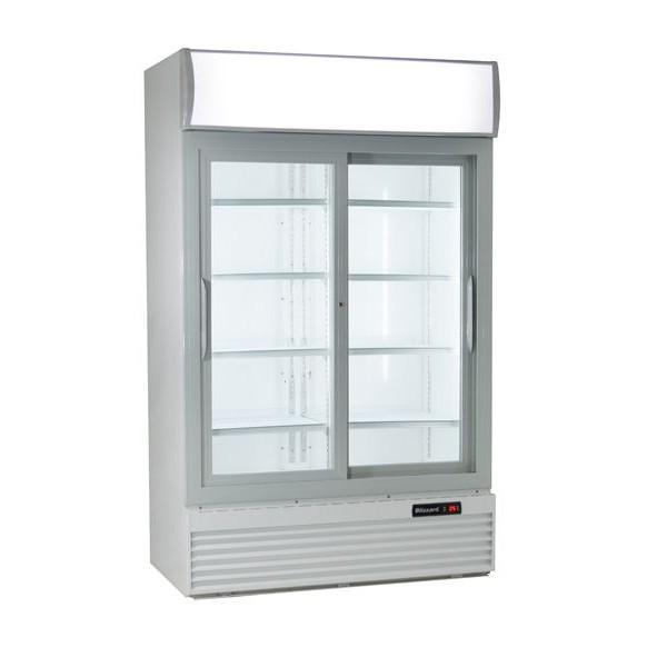 Blizzard GD1000 Double Hinged Door Refrigerated Merchandiser