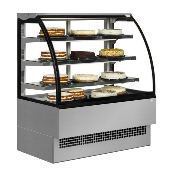 Sterling Pro EVO90SS 0.9m Stainless Steel Patisserie Display