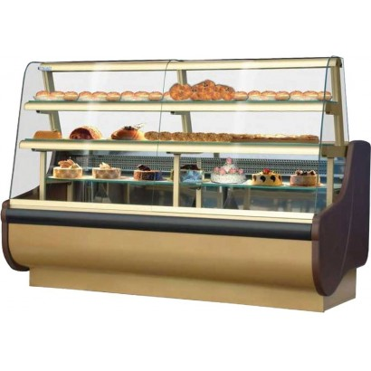 Igloo Beta 100 1.0m Patisserie Display Counter in Gold