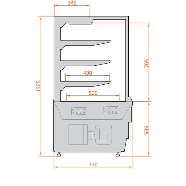 ES System K Carina 06 1.45m Self Service Patisserie Display