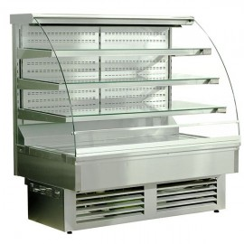 Igloo Jamaica JA130WS OPEN 1.3m Open Front Stainless Steel Pastry Case
