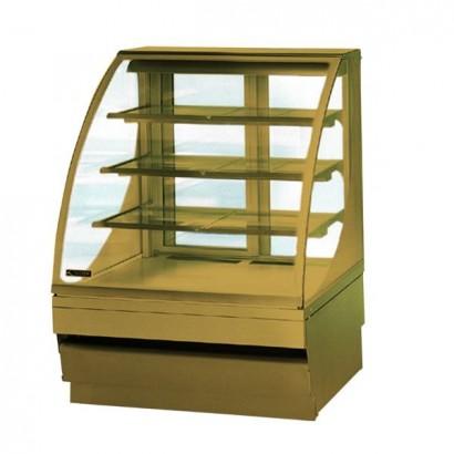 Norpe Saga-90-W-OAK 0.9m Oak Finish Ambient Display Cabinet