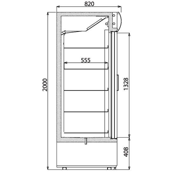 Iarp EIS214 Triple Door Display Fridge