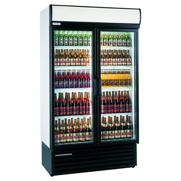 Staycold HD1140 920 Litre Double Hinged Glass Door Display Fridge
