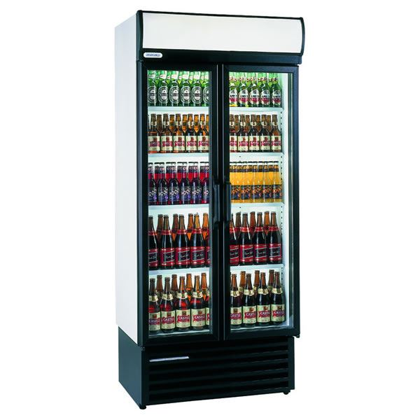 Staycold HD890 700 Litre Double Hinged Glass Door Display Fridge