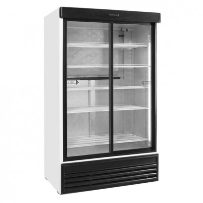 Tefcold FS1200S 895 Litre Double Glass Door Upright Merchandiser