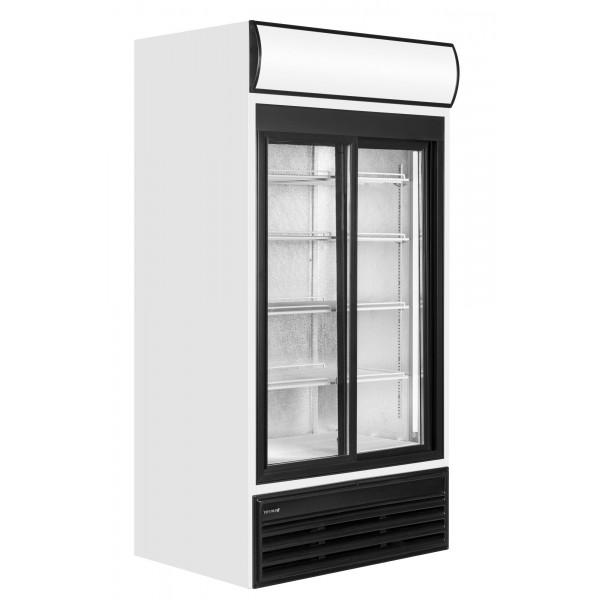 Tefcold FSC1200S 945 Litre Double Sliding Glass Door Upright Merchandiser