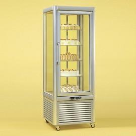 Tecfrigo PRISMA-400RS Single Door Cake Fridge in Silver with Rotating Shelves