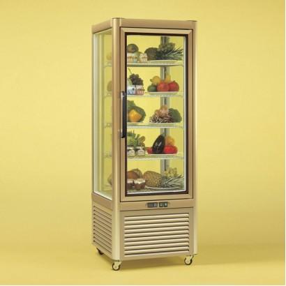 Tecfrigo PRISMA-400QG Single Door Cake Fridge in Gold Wire Shelves
