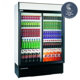 Staycold SD1360 1075 Litre Double Sliding Glass Door Display Fridge
