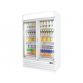 Prodis XD2PW White Heavy Duty Glass Door Display Fridge