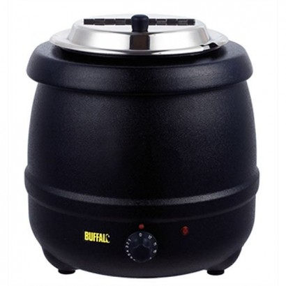 Buffalo L715 10 Litre Black Soup Kettle
