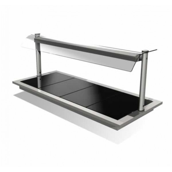 Counterline Integrale IHCGH6-GO Heated Ceramic Glass Hotplate Display