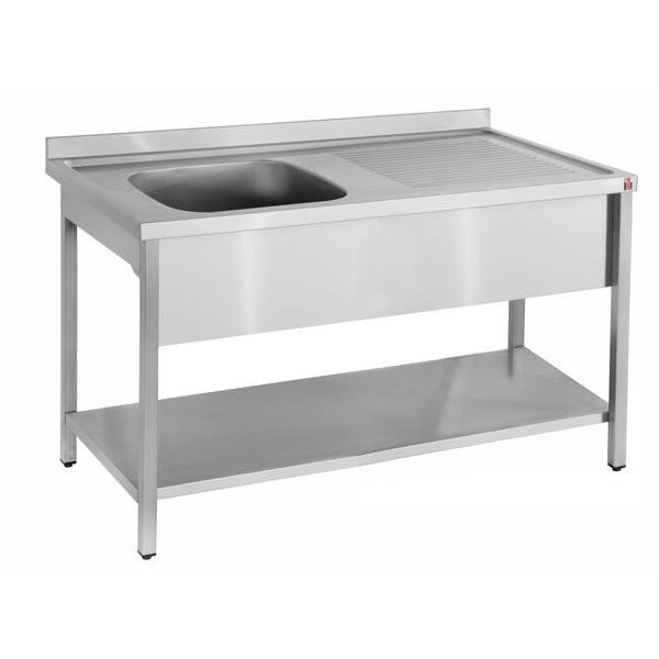 Inomak LA5141L 1.4m Single Bowl Right Hand Drainer Catering Sink