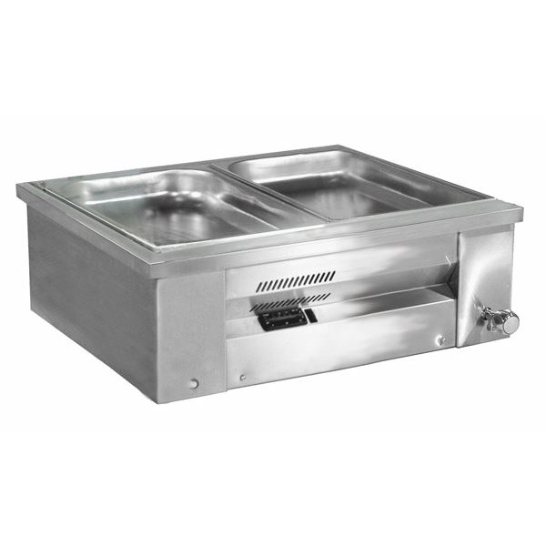 Inomak MA67 2 x 1/1 GN Counter Top Gastronorm Bain Marie