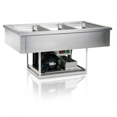 Tefcold CW3V 1.1m Stainless Steel Fan Assisted Buffet Display