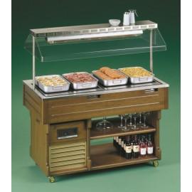 Tecfrigo ISOLA 4 CH Hotplate 1.5m Buffet Display