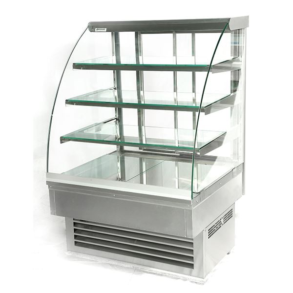 Igloo Jamaica JA90HS 0.9m Stainless Steel Heated Display Cabinet